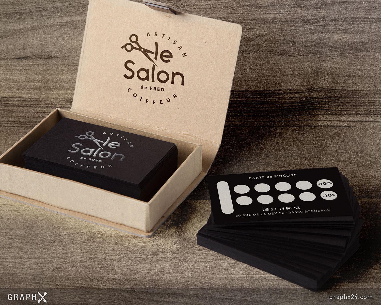Carte de fidélité pour un salon de coiffure