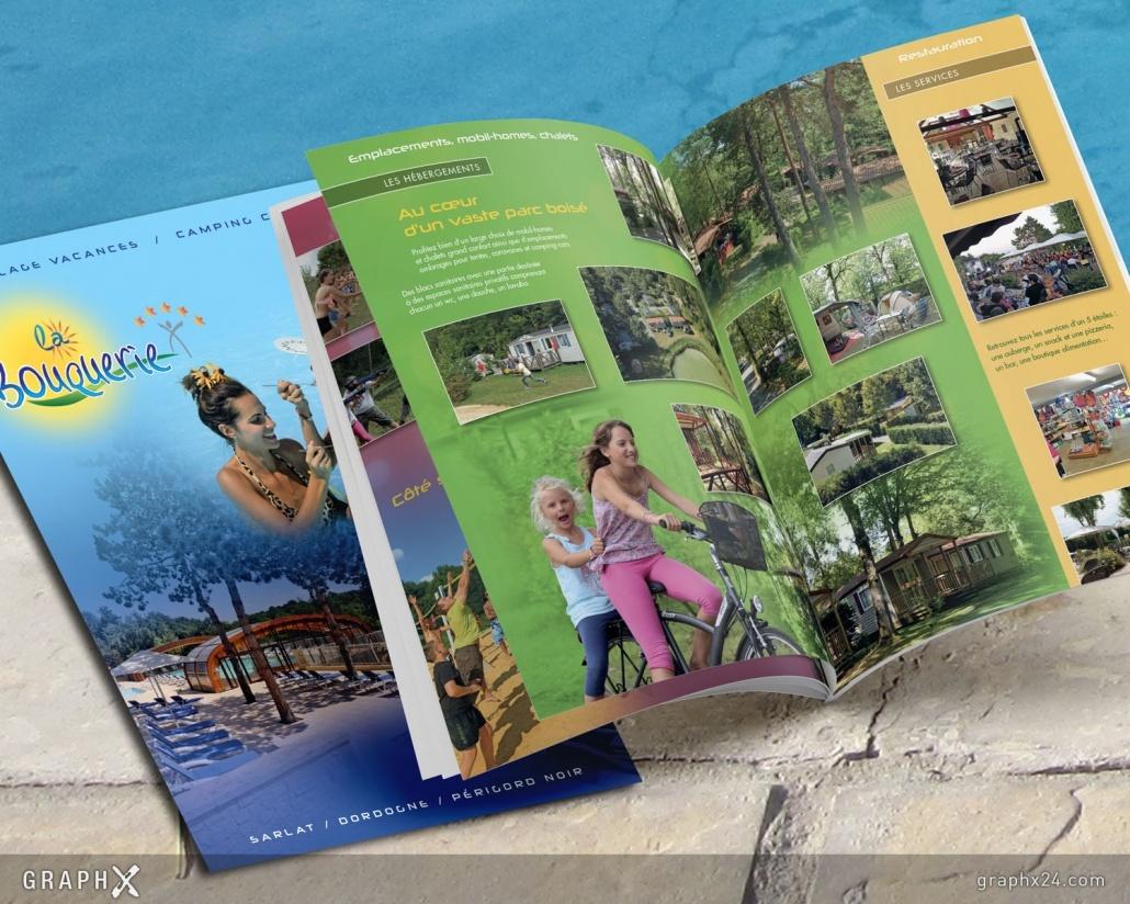 Brochure pour un camping