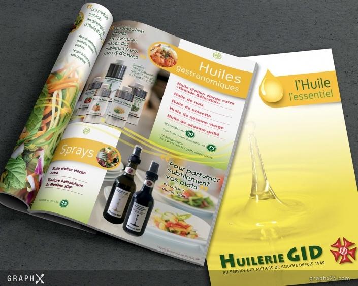 Brochure pour une huilerie