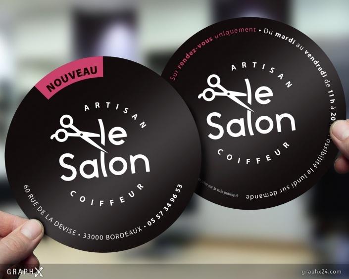 Flyer pour un salon de coiffure
