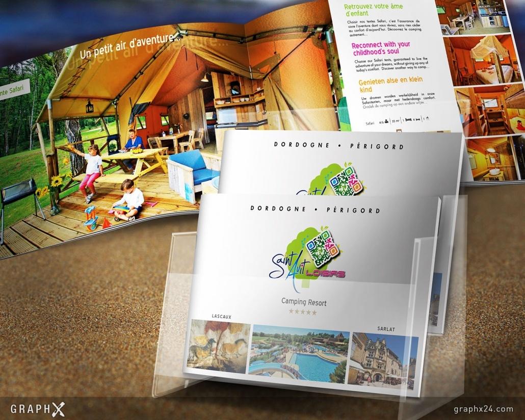 Brochure luxe pour un camping 5 étoiles