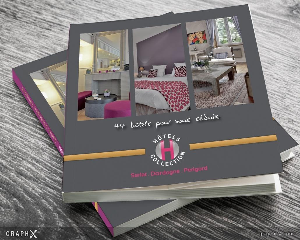 Brochure pour un regroupement d'hôtels
