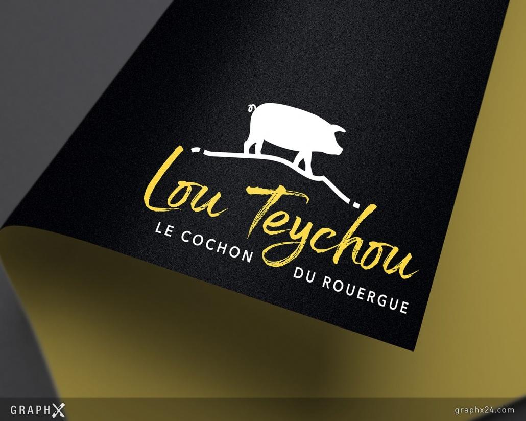 Logo pour une entreprise de découpe et transformation de viande