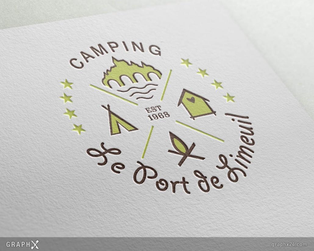 Logo pour un camping traditionnel